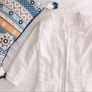 {zara} fantasy tweed blazer jacket